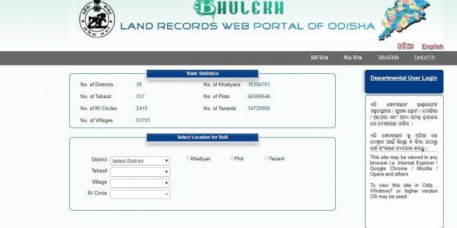 Bhulekh Odisha Land Records